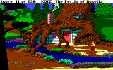 King's Quest IV: The Perils of Rosella Amiga The dwarves' tree home.