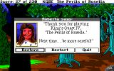 King's Quest IV: The Perils of Rosella Amiga You died... Roberta says thanks for playing though.