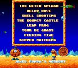 The Super Aquatic Games SNES All of the events in the game