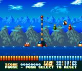 The Super Aquatic Games SNES In the water during the 100 meter splash