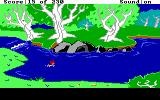 The Black Cauldron DOS Swimming in the river.