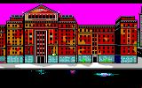 Manhunter: New York Amiga Outside the hospital. Unlike most Sierra adventure games, this game mostly has a first person view.