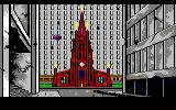 Manhunter: New York Amiga Outside the church.