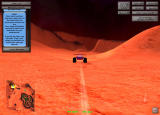 Mars Explorer Browser Approaching a hill at fast speed, ideal to start flying.
