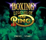 Boxing Legends of the Ring SNES Title screen