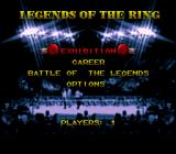 Boxing Legends of the Ring SNES Main menu