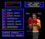Boxing Legends of the Ring SNES Create-A-Boxer, modifying punch specialties.