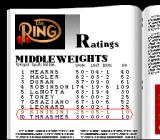 Boxing Legends of the Ring SNES Rankings Career Mode