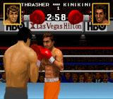 Boxing Legends of the Ring SNES The match starts.