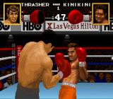 Boxing Legends of the Ring SNES The opponent dodging.
