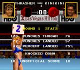 Boxing Legends of the Ring SNES Ring girl with round statistics
