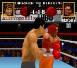 Boxing Legends of the Ring SNES About to land a punch.