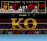 Boxing Legends of the Ring SNES KO win screen