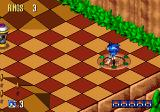Sonic 3D Blast Genesis The Sonic faces in the lower right corner will change to birds as long as you are collecting them. Five birds is what you need at the current level