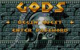 Gods Atari ST Title screen and main menu