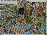 SimCity 2000 DOS A giant monster causing terror and destruction in Hollywood
