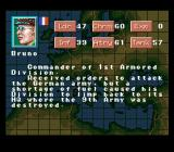 Operation Europe: Path to Victory 1939-45 SNES Background information on an officer