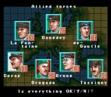 Operation Europe: Path to Victory 1939-45 SNES The officers that have been chosen to go into battle.