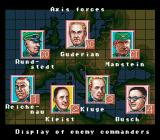 Operation Europe: Path to Victory 1939-45 SNES A sample of the Axis forces officers