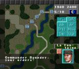 Operation Europe: Path to Victory 1939-45 SNES Some of the commands the player can give.