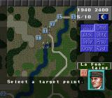 Operation Europe: Path to Victory 1939-45 SNES Selecting where to move a division.