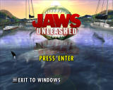 Jaws: Unleashed Windows Main title screen.