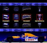 Nigel Mansell's World Championship Racing SNES Customizing your car.