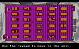 Manhunter 2: San Francisco Amiga An arcade sequence: Avoid the robots in the warehouse.