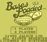 Bases Loaded Game Boy Title Screen