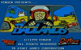 Badlands Amiga The title screen.
