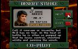 Desert Strike: Return to the Gulf DOS Choose your co-pilot.