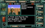 Desert Strike: Return to the Gulf DOS Level 1 - Status screen info on our missing agent.