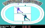 The Games: Winter Edition Amiga Speed Skating.