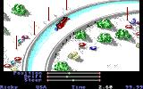 The Games: Winter Edition Amiga Luge - Taking a corner.