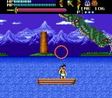 Valis III Genesis Boss fight against a water snake