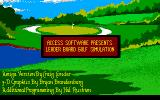 Leader Board Amiga Title screen.