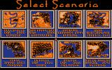 SimCity Amiga Select a scenario to play. (1 Meg 32 color version)
