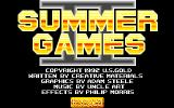 Mega Sports Amiga Title screen. (Summer Games 2)