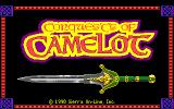 Conquests of Camelot: The Search for the Grail Amiga Title screen.
