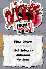 High School Musical 3: Senior Year Nintendo DS Title Screen