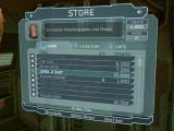 Dead Space Windows You can buy and sell items in shops.