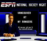 ESPN National Hockey Night Genesis The teams that will be playing