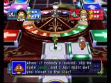 Mario Party 4 GameCube Luigi at the roulette wheel