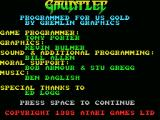 Gauntlet MSX Introduction part 1 - credits and info