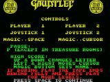 Gauntlet MSX Introduction part 2 - how to play the game.