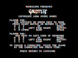 Gauntlet Apple II Introduction; how to play the game.