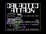 Galactic Attack Apple II Title screen