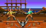 Pirates! Gold Amiga CD32 Fighting a sword duel on a ship.