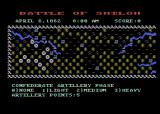 The Battle of Shiloh Atari 8-bit The gameplay screen