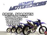 Ultimate Motorcross Windows Main menu (German version)
